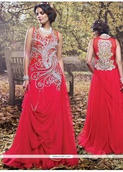 Best Hot Pink Net Designer Gown