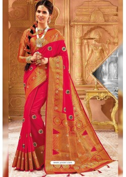 Rani Weaving Silk Designer Saree