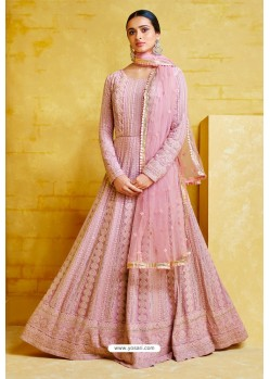 Pink Heavy Georgette Designer Anarkali Suit
