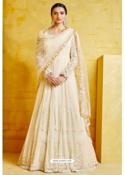 Cream Heavy Georgette Designer Anarkali Suit