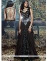 Monumental Net Brasso Black Resham Work Designer Gown