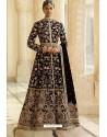Black Velvet Beautiful Embroidered Anarkali Suit