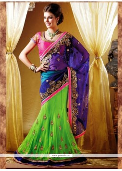 Invaluable Net Lehenga Saree