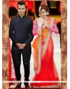 Malaika Arora Khan Lehenga Saree For Ceremonial