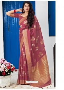 Maroon Banarasi Sona Chandi Silk Designer Saree