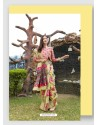 Multi Colour Linen Art Silk Weaving Worked Saree