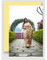 Golden Linen Art Silk Weaving Worked Saree