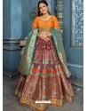 Wine Banarasi Silk Designer Lehenga Choli