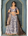 Light Grey Jacquard Designer Lehenga Choli