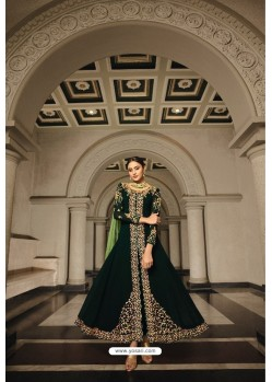 Dark Green Georgette Zari Embroidered Anarkali Suit