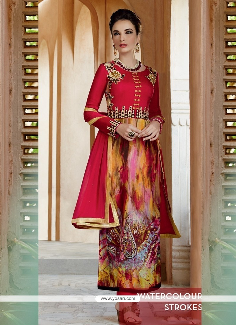 Ravishing Georgette Print Work Salwar Suit
