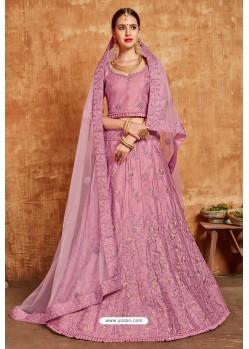 Hot Pink Avantika Slub Designer Lehenga Choli