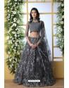Grey Net Thread Embroidered Designer Lehenga Choli