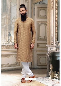 Brown Dupion Silk Kurta Pajama
