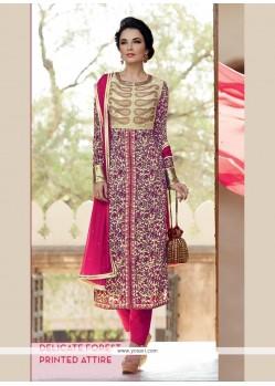 Lavish Lace Work Pure Crepe Designer Salwar Suit