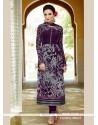 Sparkling Purple Viscose Straight Suit
