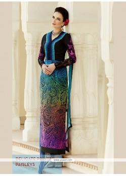 Multi Colour Georgette Straight Suit