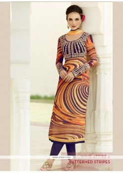 Marvelous Multi Colour Viscose Salwar Suit