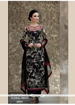 Black Viscose Salwar Suit