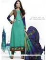 Lisa Haydon Sea Green Jacquard Resham Work Salwar Suit