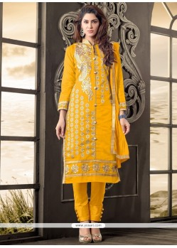 Refreshing Yellow Designer Salwar Kameez
