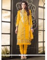 Refreshing Yellow Designer Salwar Kameez