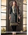 Transcendent Zari Work Black Salwar Suit