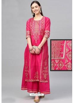 Rani Chanderi Designer Kurti