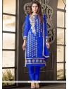 Beauteous Cotton Blue Salwar Kameez