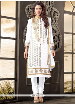 Thrilling Cotton Zari Work Designer Salwar Suit