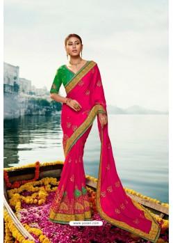 Rani Barfi Silk Embroidered Designer Saree