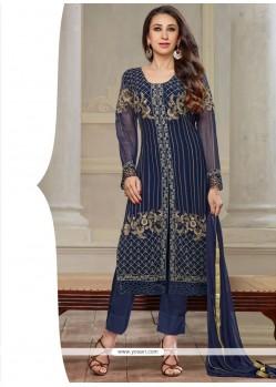 Karishma Kapoor Georgette Blue Salwar Kameez
