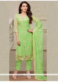 Karishma Kapoor Green Resham Work Designer Salwar Suit