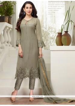 Karishma Kapoor Georgette Grey Salwar Suit