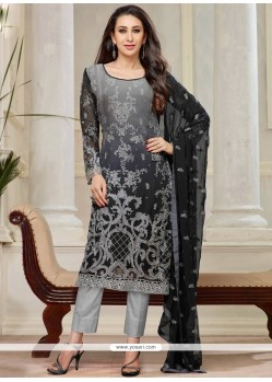 Karishma Kapoor Black And Grey Salwar Suit