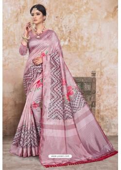 Mauve Zoya Art Silk Digital Printed Saree