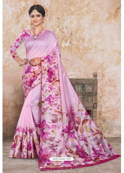Pink Zoya Art Silk Digital Printed Saree