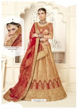 Peach Silk Designer Bridal Lehenga Choli