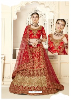 Red Silk Designer Bridal Lehenga Choli
