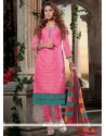 Ideal Lace Work Chanderi Cotton Churidar Designer Suit