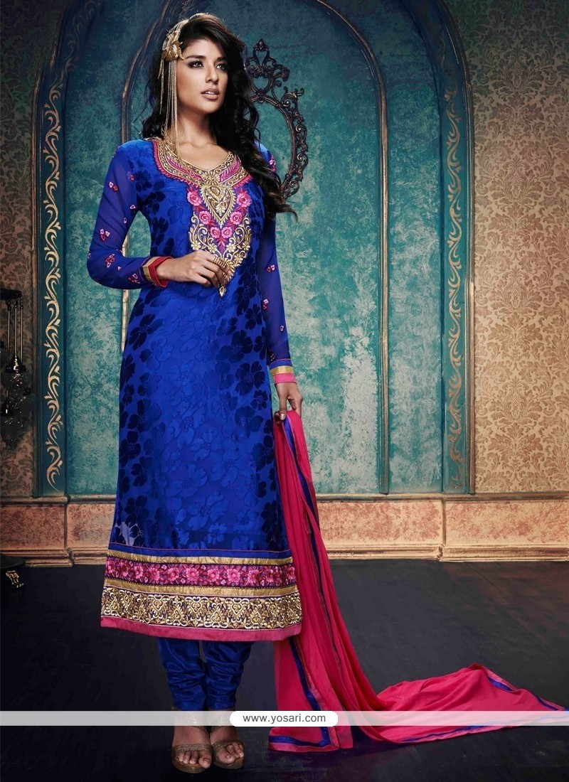 Magnetize Blue Churidar Salwar Kameez
