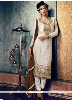 Ideal Zari Work Brasso Churidar Suit
