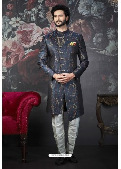 Multi Colour Imported Jacquard Designer Sherwani
