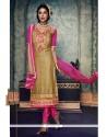 Pleasance Beige Embroidered Work Brasso Churidar Salwar Suit