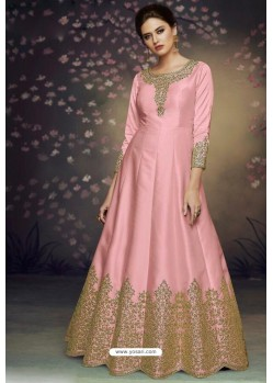 Pink Heavy Dolla Silk Designer Gown