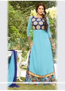 Renowned Print Work Designer Palazzo Suit