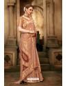 Light Brown Cotton Silk Casual Saree