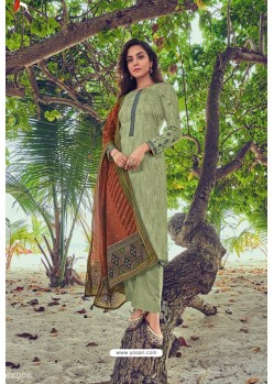 Green Pure Jam Cotton Print Palazzo Suit