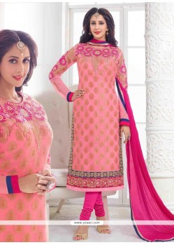 Angelic Pink Churidar Designer Suit