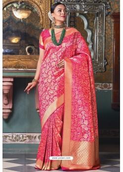 Rani Handloom Silk Party Wear Designer Saree